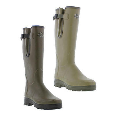 Le Chameau Vierzonord Mens Wellies Neoprene Lined Wellington Boots Size 7-12