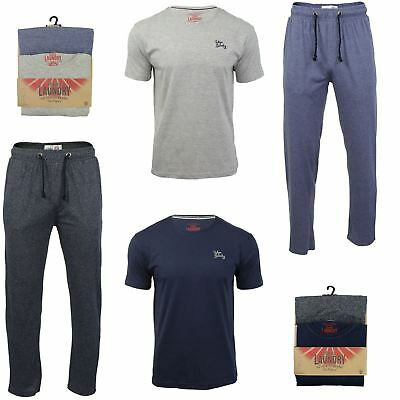 Mens Tokyo Laundry Pyjama Set with Check Bottoms & Long Sleeved Top