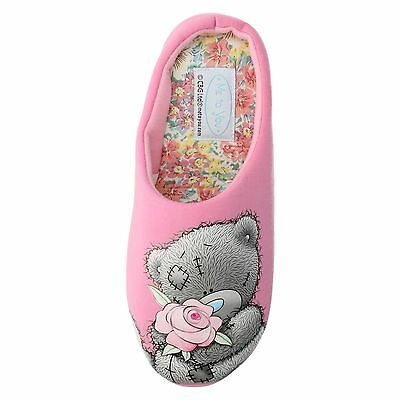 Ladies SIZE 3 - 8 Mules Slippers Pink TATTY TEDDY Womens NEW