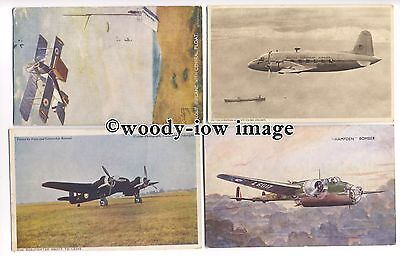 ac1290 - Aircraft - Military & Commercial - 4 postcards