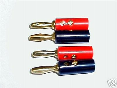 Stackable Plated Banana Plugs 4mm (2 pairs)