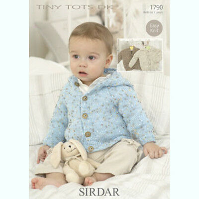 Sirdar Baby Knitting Pattern - Jacket Cardigans - 1790 - Snuggly Tiny Tots DK