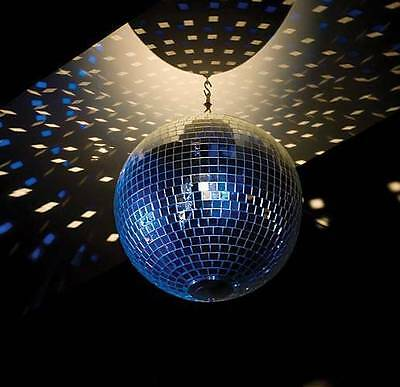 Glass Mirror Ball disco ball roller rinks 50's to70's theme add motor