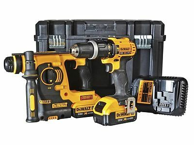 DeWalt DCK206M2T 18v 2x4.0Ah Li-ion SDS-Plus and Combi Twin Kit