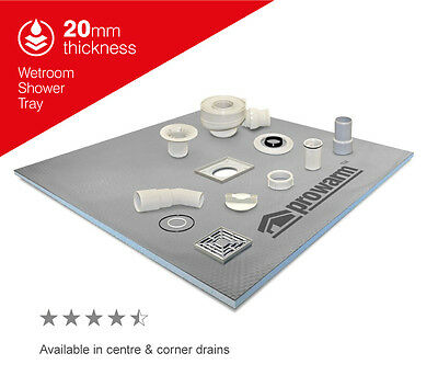 ProWarm 20mm Wet Room Shower Tray Kit - All Sizes in this listing