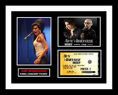 Amy Winehouse *final Concert Ticket* And Photo Display