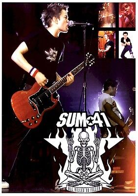 SUM 41 ~ LIVE COLLAGE 27x38 MUSIC POSTER Deryck Whibley Tom Thacker