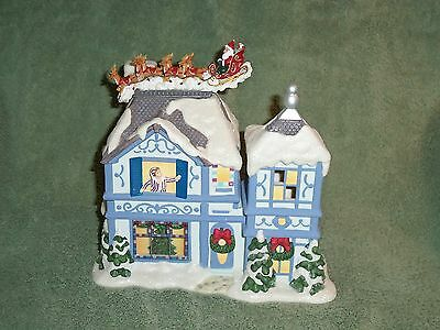 Partylite The Night Before Christmas Musical Tealight House -- Holiday!