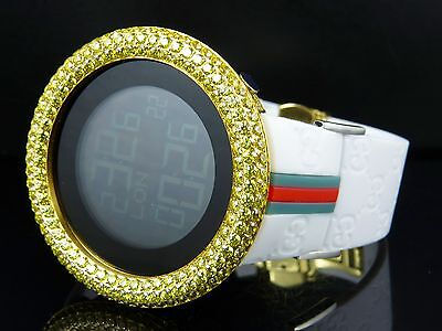 Mens Techno Art Joe Rodeo Simulated Canary Diamond Watch Yellow Finish Bezel
