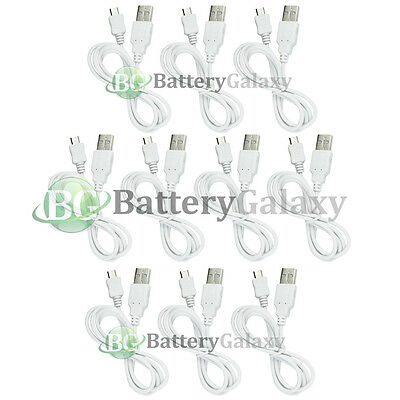10 White Micro USB Data Cable for Samsung Galaxy Note 5 S6 S7 Edge Plus Active