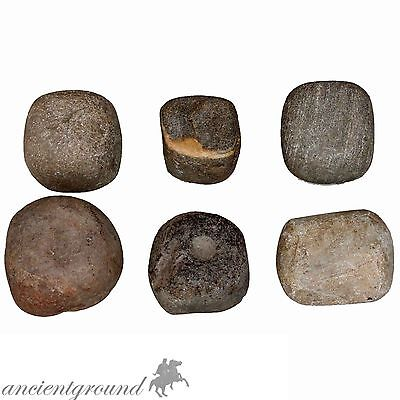Nice Collection Of 6 Stone Smash Hammers 4500-2000 Bc