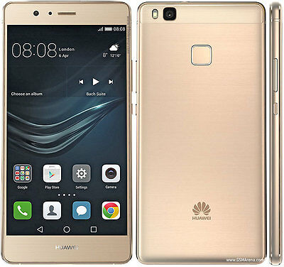 "Sim Free Huawei P9 Lite Vns-L31 Gold 16Gb Factory Unlocked 5.2"" 13Mp Smartphone"