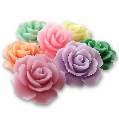 18mm Lucite MATTE RESIN ROSE Cabochon Flatback Embellishment DIY Jewellery Craft