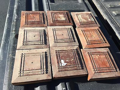 "lot 9 victorian salvaged corner BASE molding PLINTH blocks Heart pine ~ 5.25"" sq"