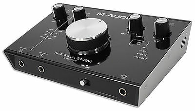 M-Audio M-Track 2X2M 24/92 USB Audio Recording Monitoring Interface w/5 Pin MIDI
