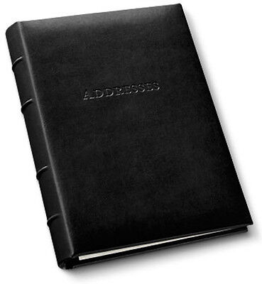 Gallery Leather Desk Address Book Acadia Leather Black