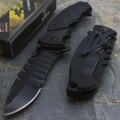 """MTECH USA 9.5"""" G10 HANDLE EDC SPRING ASSISTED TACTICAL FOLDING POCKET KNIFE Open"""