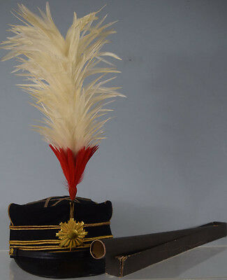 WWII Imperial Japanese Army Colonel Dress Cap with Plume