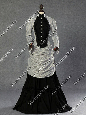 Victorian Edwardian Dark Vampire Seductress Dress Witch Halloween Costume 139