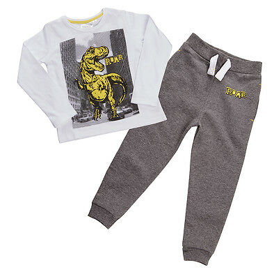 Older Boys Outfit Trousers and Long Sleeve Top Dinosaur  T-RexTheme 2-3Y to 5-6Y