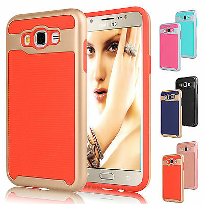 Shockproof Armor Hybrid Rubber Protective Hard Case Cover for Samsung Galaxy J7
