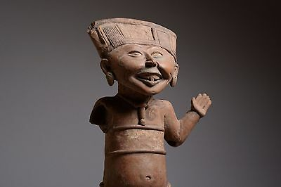 Pre-Columbian Pottery Laughing Veracruz Figure - 550 AD