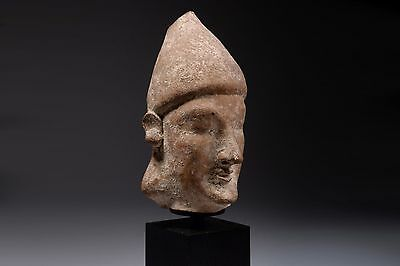 Iron Age Cypriot Terracotta Cypro-Archaic Head - 650 BC