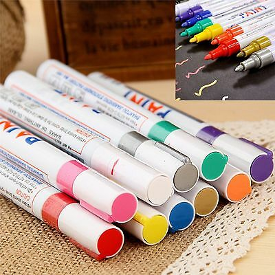 Permanent Car Tyre Tire Metal Paint Pen Marker Uk Seller All Colors Pack Of 12