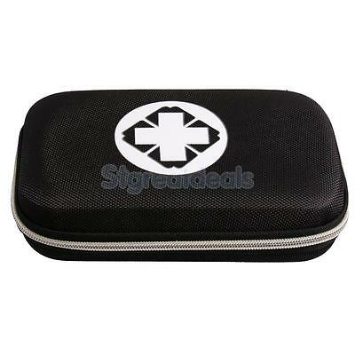 Compact Outdoor Sports Travel Car Home Survival First Aid Kit Bag Case Black