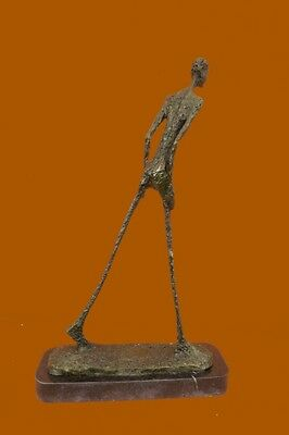 Gia Dali Stuck Big Man Walking Bronze Sculpture Statue Figurine Modern Abstract