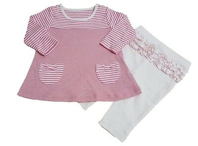 Baby Girls Outfit Set Top and Leggings Pink Ex M+S