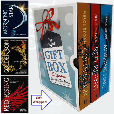 Pierce Brown Red Rising Trilogy Collection 3 Books Set Gift Wrapped Slipcase NEW