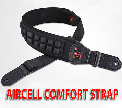 AIRCELL XL 80 Super Wide Padded 8cm Comfort Bass Guitar Strap - Bassists