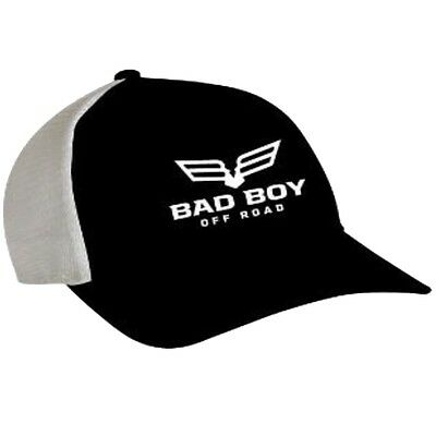 Bad Boy Off Road Trucker Full Logo Mesh Back Cap - Polyester & Cotton - Black