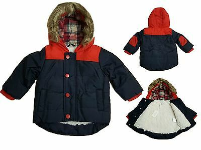 Baby Boys Winter Coat Jacket Hooded Fleece Lined ZipZap Boutique Warm
