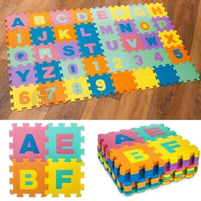 Giant Size Foam Alphabet Children Soft Jigsaw Puzzle Play Learning Mat Numbers