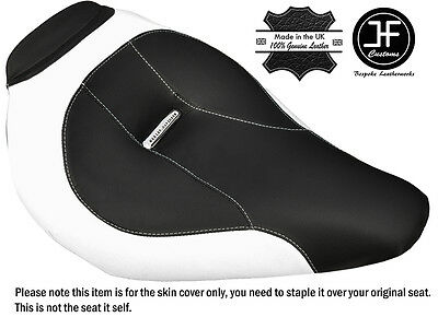 White & Black Custom Fits Harley Brakeout 13-16 Standard Front Seat Cover