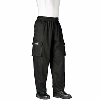 Chefwear Cargo Cotton Chef Pants Black Large
