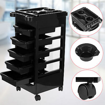 Salon Trolley Hairdresser Beauty Spa Hair Barber Storage Drawers Rolling Cart