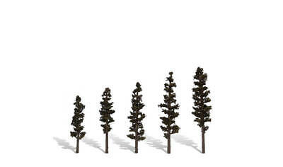 "Woodland Scenics [WOO] Trees Standing Timber 2.5-4"" (5) WOOTR3560"