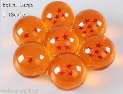 Extra Large DRAGON BALL Z 1:1 Set of 7 Seven Stars Diameter of about 58-60mm