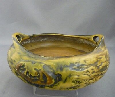 SCARCE Antique 1916 Roseville Pottery IMPERIAL I Handled Bowl RARE