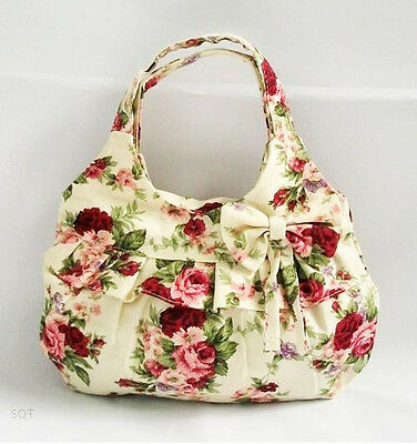 New red flowers bowknot makeup bag child's causal bag Purses