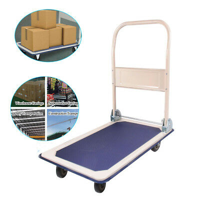 New 660lbs Platform Cart Folding Dolly Foldable Warehouse Moving Push Hand Truck