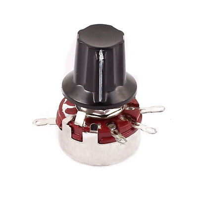 WTH118 Rotary Carbon Film Potentiometer 470K Ohm Adjustable Resistance w Cap