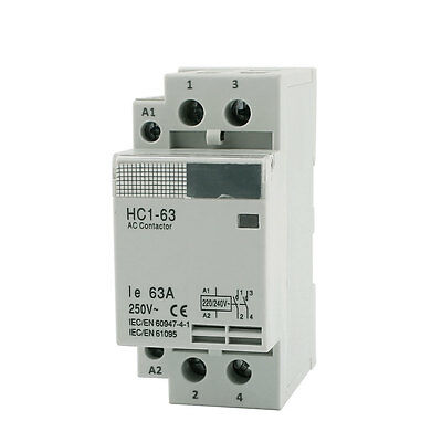 HC1-63 220V/240V 63A 1 Phase 2NO Electric Circuit Breaking AC Contactor