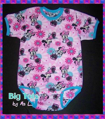 Adult Baby Minnie Mouse  Fleece onesuit   *Big Tots by MsL*