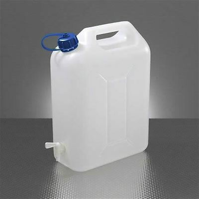 Jerry Can Water Tank 10 L Ltr Litre Carrier Tap Spout White Food Grade Container