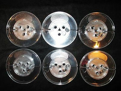 Lot of 6 Empty Reels 5 x 1/4 Plastic Blank Take Up for Audio Tape Large Hub