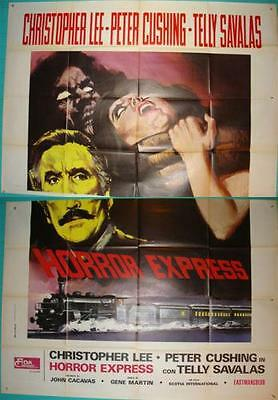 Hammer Horror Stars Peter Cushing Christopher Lee Orig Horror Express Italian